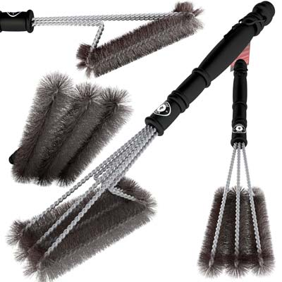 4. BBQ Grill Brush by Alpha Grillers