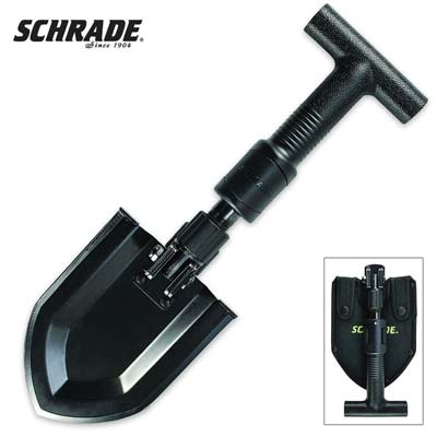8. Schrade SCHSH1 Telescoping Folding Shovel