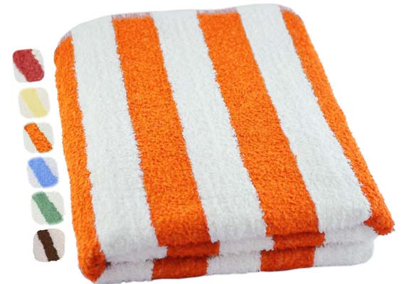3. Utopia Towel Cabana Stripe Terry Towel