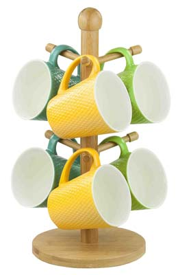 10. Home Basics Mug Tree (Bamboo)