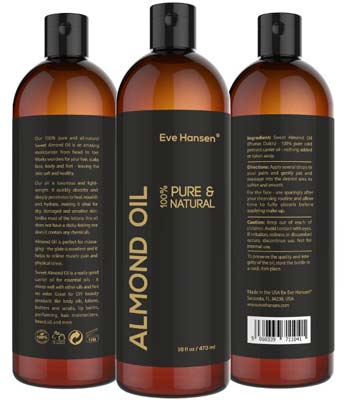 3. Eve Hansen Sweet Almond Oil