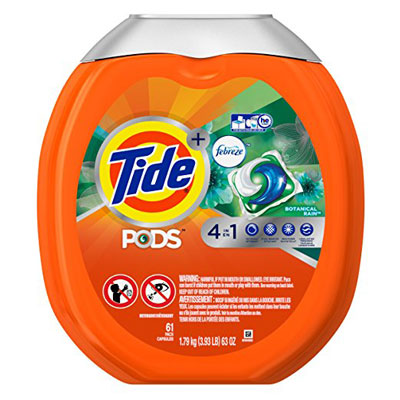 1. Tide 61 Count Laundry Detergent