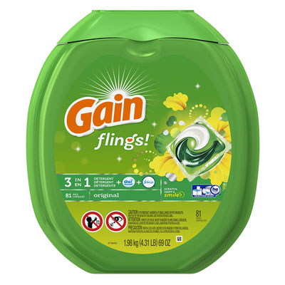 9. Gain 81 Count Laundry Detergent Pacs