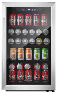 3. Kalamera Stainless Steel 150-Can Beverage Refrigerator