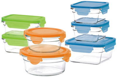 9. Glasslock 14-Piece Set with Lids