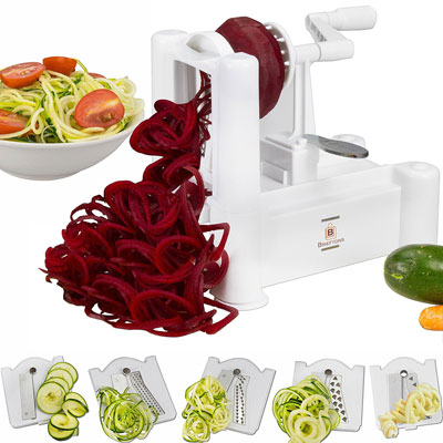 2. Brieftons Vegetable Spiral Slicer