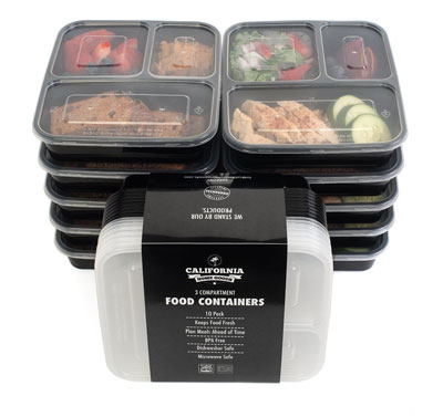 7. California Home Goods 10 Piece Food Storage Set