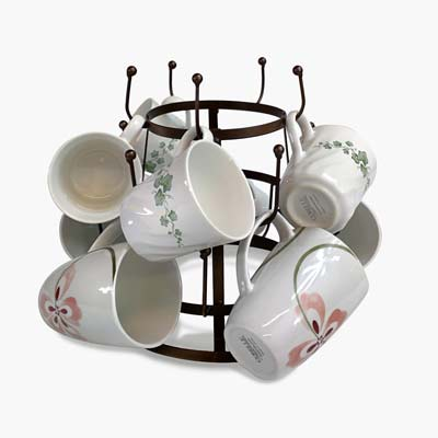 4. Sorbus Mug Holder Tree Organizer/Drying Rack Stand
