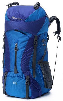 9. OutdoorMaster 60L Waterproof Hiking Backpack
