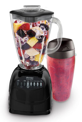 8. Oster Black 10-Speed Blender with Blend and Go Cup