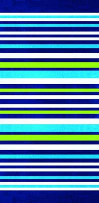 6. Stripes Horizontal Brazilian Velour Beach Towel