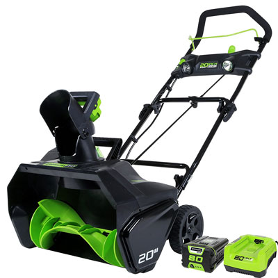5. GreenWorks Pro 80V Cordless Snow Thrower