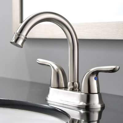 5. Ufaucet 2 Handle Bathroom Sink Faucet