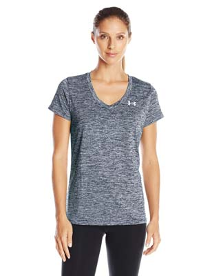 9. Women's Tech V-Neck-Twist by Under Armour