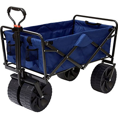 2. Mac Sports All Terrain Utility Wagon (Blue/Black)