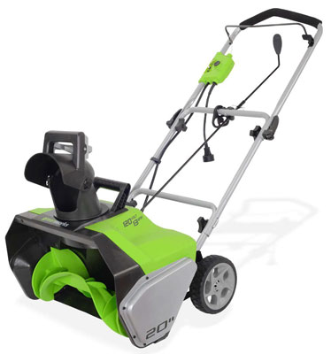3. GreenWorks 2600502 Corded Snow Thrower