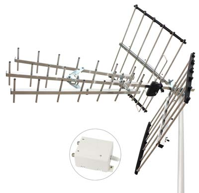 5. 1 byone Digital Amplified Outdoor Antenna (100-Mile Range)