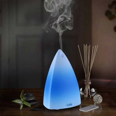 4. Calily Ultrasonic Essential Oil Diffuser Aromatherapy (with Remote Control & Multi-Color LED Light)