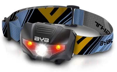 10. BYB Super Bright LED Headlamp Flashlight