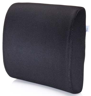 6. MemorySoft Lumbar Support Pillow