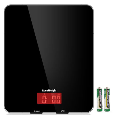 6. Accuweight Black Food Scale with LCD Display