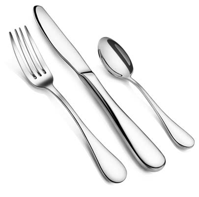 7. Artaste 59380 36-Piece Stainless Steel Flatware Set