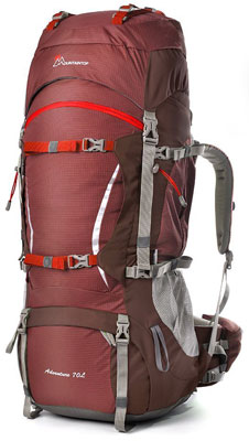 5. Mountaintop 70L+10L Backpack