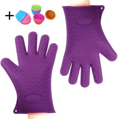 9. Binwo Heat Resistant BBQ Gloves