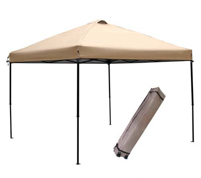 4. 10 x 10 feet Outdoor Canopy (Khaki) by Abba Patio
