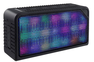 2. URPOWER Bluetooth Speakers with 7 LED Visual Modes