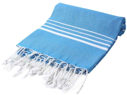 7. Cacala Striped Beach Sauna Turkish Bath Towel