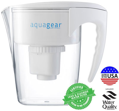 3. Aquagear Water Filter Pitcher
