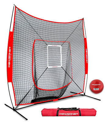 5. PowerNet DLX 7 x 7 Baseball and Softball Practice Net