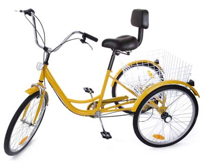 6. Iglobalbuy 24-Inch 3-Wheel Adult Bicycle