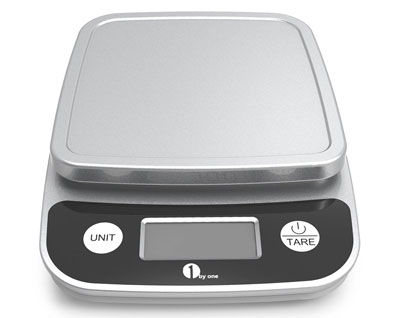 7. 1byone Elegant Black Digital Kitchen Scale