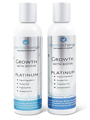 3. DermaChange Hair Growth Shampoo Conditioner Set