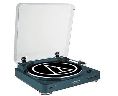 3. Audio-Technica Navy Bluetooth Turntable (AT-LP60NV-BT)