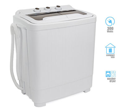6. XtremepowerUS Portable Washer & Spin Dry Cycle (300W Washer Spinning Dryer)
