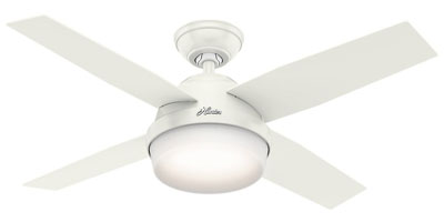 "2. Hunter Fan Company 44"" White Ceiling Fan"
