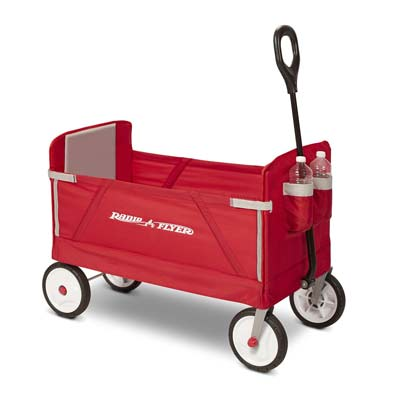 5. Radio Flyer 3-in-1 Fold Wagon