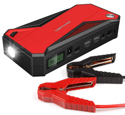 2. DBPOWER 600A Peak Portable Car Jump Starter