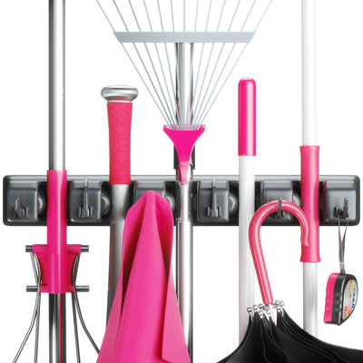 2. Berry Ave Broom Holder and Garden Tool Organizer