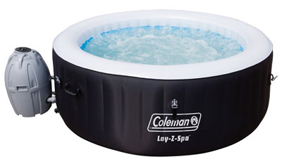 5. Bestway 4-Person Black Portable Hot Tub