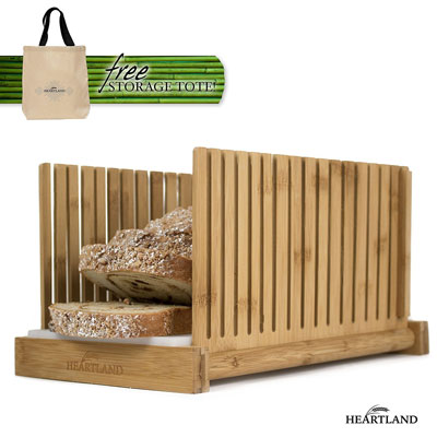 9. HEARTLAND Bread Slicer with Storage Tote Bag