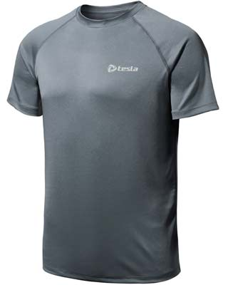 1. Tesla Men's Running T Shirt