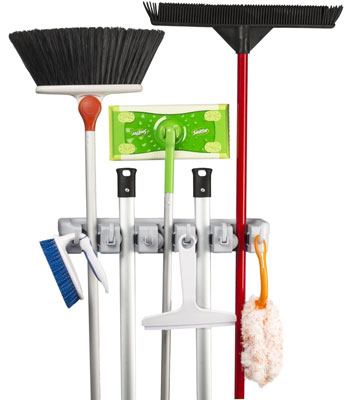 9. KingTop Mop and Broom Holder
