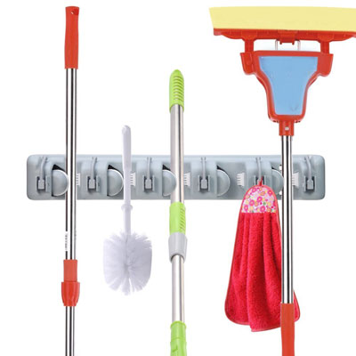 3. OuTera 5 Position Broom Mop Holder