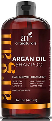 4. ArtNaturals 16 Oz Argan Oil Hair Loss Shampoo