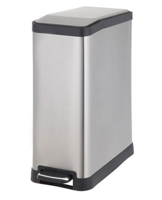 4. Home Zone 45-Liter Stainless Steel Trash Can