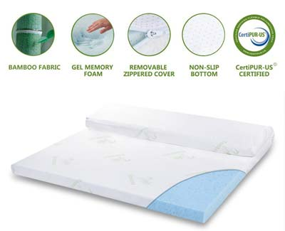 9. LANGRIA 3-Inch Mattress Topper